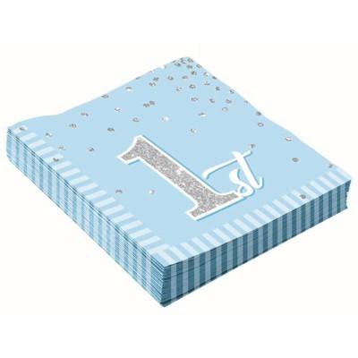 16ct 1st Birthday Napkins Blue