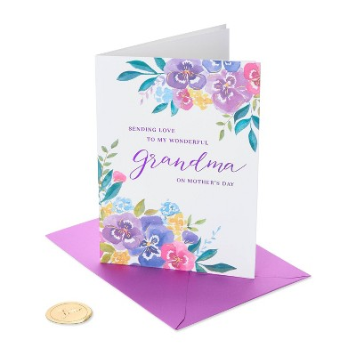 Mothers Day Greeting Card Watercolor Floral - PAPYRUS