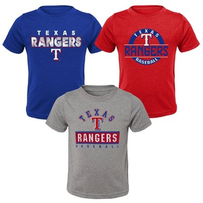 MLB Texas Rangers Toddler Boys' 3pk T-Shirt Set