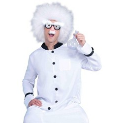 It/'s Alive Costume Adult Mens Mad Scientist Doctor White Lab Coat Jacket Std-XXL