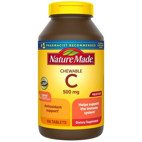 Nature Made Chewable Vitamin C 500 mg Tablets - 150ct - image 1 of 4