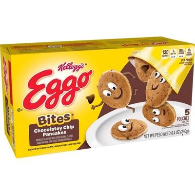 Kellogg's Eggo Bites Pouches Chocolatey Chip Frozen Pancakes - 8.4oz/5ct