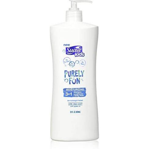 Suave Kids Purely Fun 3 In 1 Shampoo + Conditioner + Body Wash - 28 fl oz - image 1 of 3