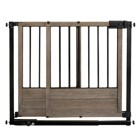 Summer Infant Rustic Home Sliding Baby Gate Bronze Wood Target