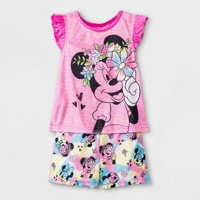 Toddler Girls' Minnie Mouse Pajama Set - Pink