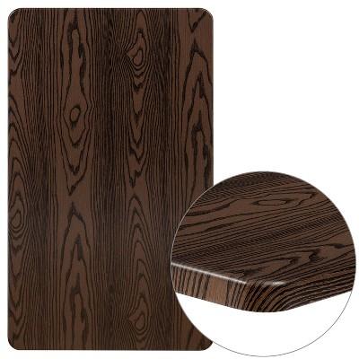 "Flash Furniture 24"" x 42"" Rectangular Rustic Wood Laminate Table Top"