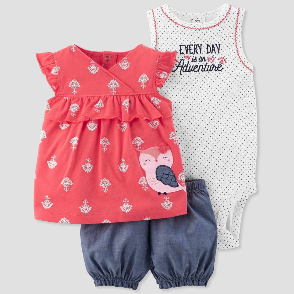 Baby Girls' 3pc Owl Set - Just One You made by carter's Pink 12M