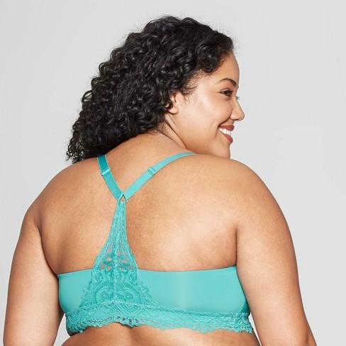 6f5bd5b732 Women s Plus Size Racerback Bralette - Auden™ Dapper Turquoise 2X   Target