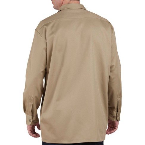 Dickies Mens Big Tall Relaxed Fit Heavy Weight Cotton Work Shirt Target