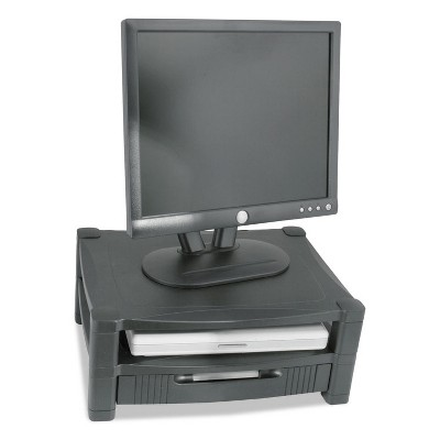 Kantek Two Level Stand Removable Drawer 17 x 13 1/4 x 3-1/2 to 7 Black MS480
