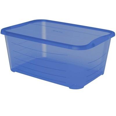 Life Story 5.5 Quart Rectangular Blue Plastic Storage box (Pack of 6)