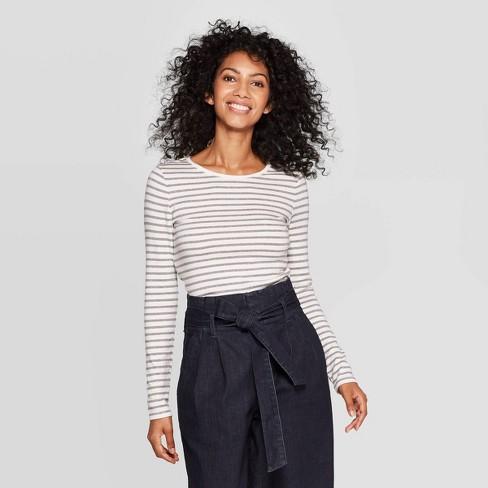 Women's Regular Fit Long Sleeve Crewneck T-Shirt - A New Day™ - image 1 of 3