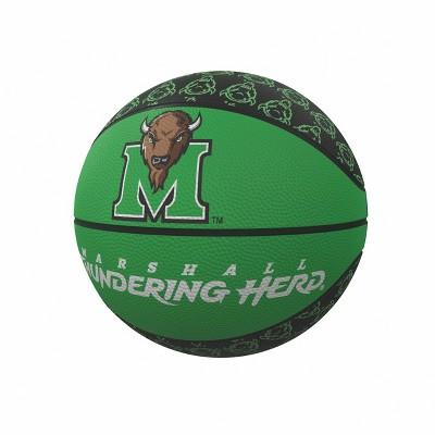NCAA Marshall Thundering Herd Repeating Logo Mini-Size Rubber Basketball