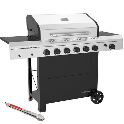 Megamaster 720-0983CTG 6 Burner Gas Grill with Stainless Steel Tong