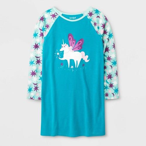 Girls' One Piece Pajamas - Cat & Jack Turquoise XL, Girl's, Blue