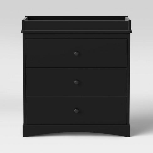 Delta Children Skylar 3-Drawer Dresser with Changing Top - Black - image 1 of 4
