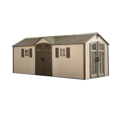 Outdoor Storage Shed 20u0027 X 8u0027   Desert Sand   Lifetime : Target