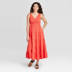 Women's Sleeveless Tiered Dress - Universal Thread™