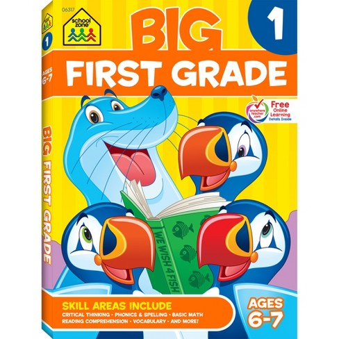 Big First Grade Workbook, Ages 6-7 (School Zone Publishing) (Paperback) - image 1 of 5