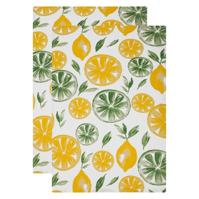 2pk Kitchen Towel Yellow/Green - MU Kitchen