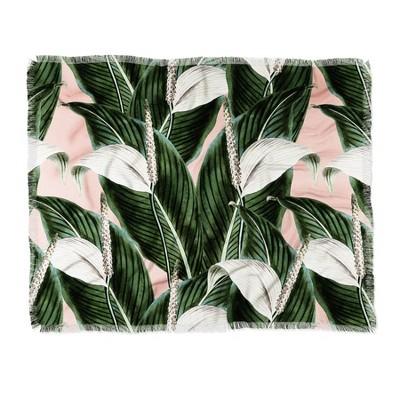 Marta Barragan Camarasa Sweet Floral Desert Woven Throw Blanket Green - Deny Designs
