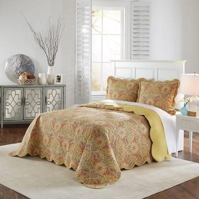 Floral Swept Away Bedspread Set 3pc - Waverly®