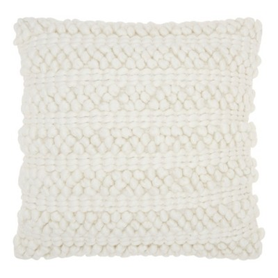 White Solid Throw Pillow - Mina Victory