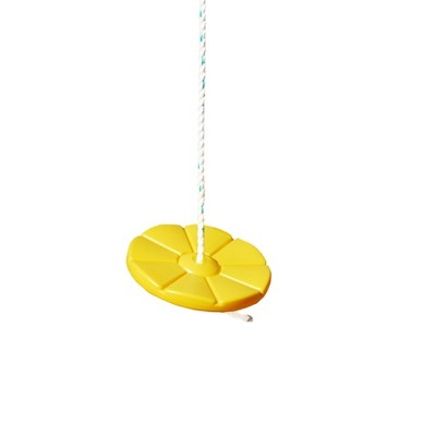 Gorilla Playsets Disc Swing with Rope - Yellow