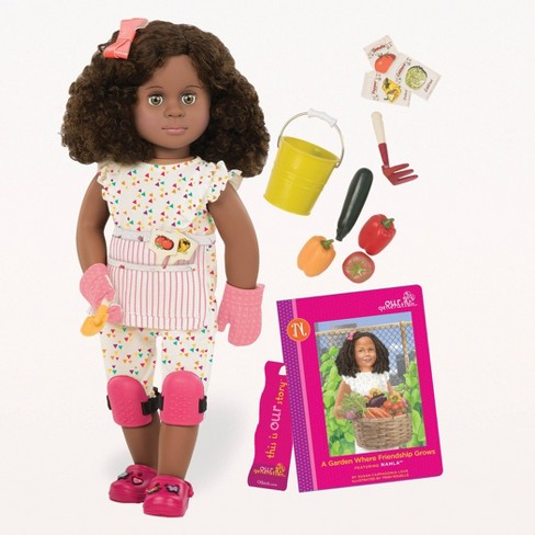 """Our Generation Nahla with Storybook & Accessories 18"""" Posable Gardening Doll - image 1 of 3"""