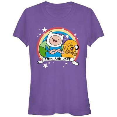 Junior's Adventure Time Finn and Jake Stars T-Shirt