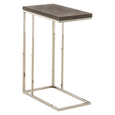 C Shape Metal Accent Table - EveryRoom