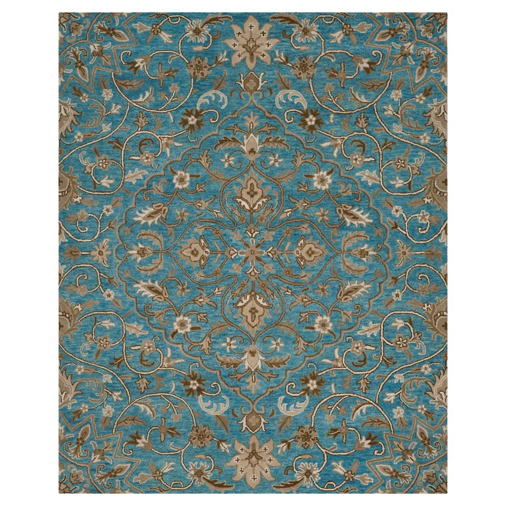 Blue Taupe Botanical Tufted Area Rug 8 39 X10 39 Safavieh