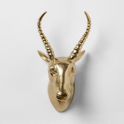 Antelope Cast Metal Decorative Wall Sculpture Gold 12.4 x 7  - Opalhouse™