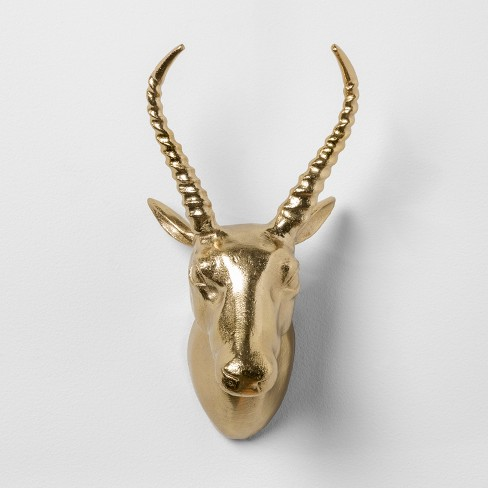 "Antelope Cast Metal Decorative Wall Sculpture Gold 12.4""x 7"" - Opalhouse™ - image 1 of 2"
