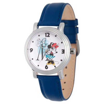 Women's Disney Minnie Mouse Silver Vintage Alloy Watch - Blue