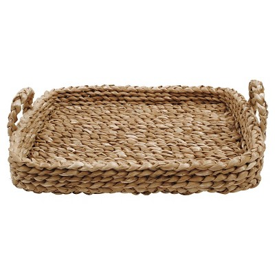 Bankuan Braided Tray with Handles (27 L x 21-1-2  x 4 H)