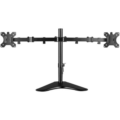 """V7 Dual Desktop Monitor Stand - Up to 32"""" Screen Support - 35.28 lb Load Capacity - 18.3"""" Height x 35.9"""" Width x 11"""" Depth - Desktop, Freestanding"""