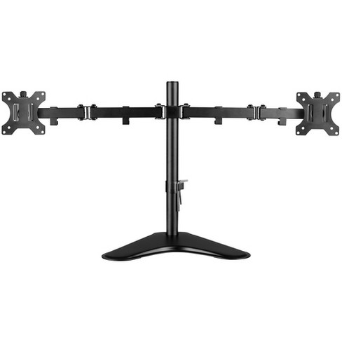 """V7 Dual Desktop Monitor Stand - Up to 32"""" Screen Support - 35.28 lb Load Capacity - 18.3"""" Height x 35.9"""" Width x 11"""" Depth - Desktop, Freestanding - image 1 of 4"""