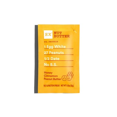 RX Nut Butter Honey Cinnamon Peanut Butter Spread - 1.13oz