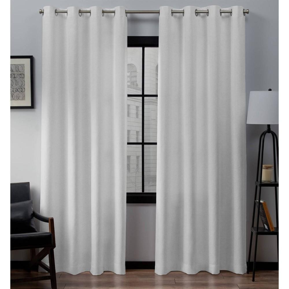 Loha Linen Window Curtain Panel Pair Winter 54x84 Exclusive Home