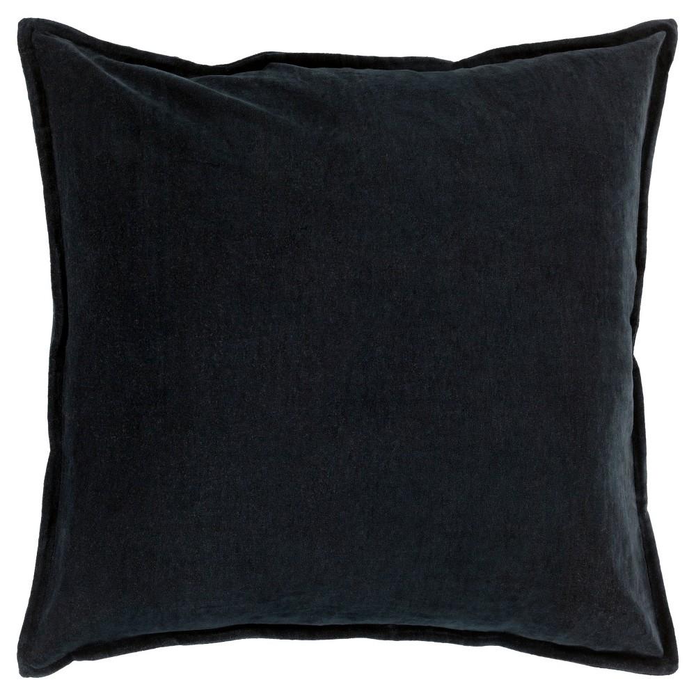 Black Velizh Handmade Throw Pillow (18x18