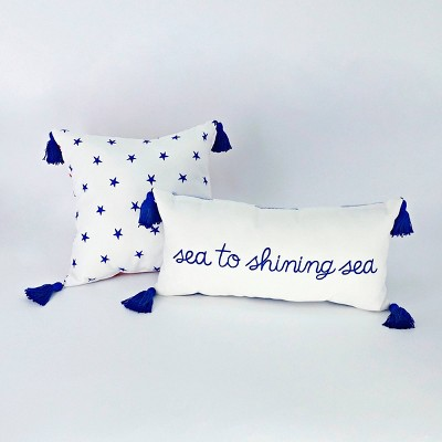 2ct Decor Pillows Star/Sea to Shining Sea - Bullseye's Playground™
