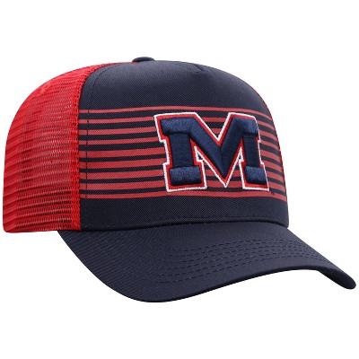 NCAA Ole Miss Rebels Men's Striped with Hard Mesh Snapback Hat