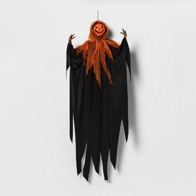 Pumpkin Face Ghoul with Black/Orange Robe Halloweeen Decorative Mannequin - Hyde & EEK! Boutique™