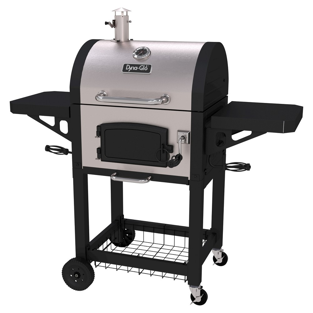 Dyna-Glo Heavy Duty Stainless Charcoal Grill, Silver 50026247