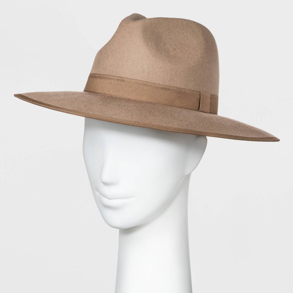 Compare Women' Wide Brim Felt Fedora Hat - A New Day™