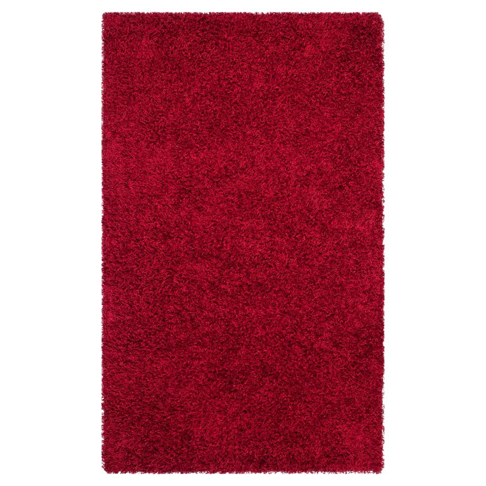 Red Solid Shag/Flokati Tufted Area Rug - (8'X10') - Safavieh