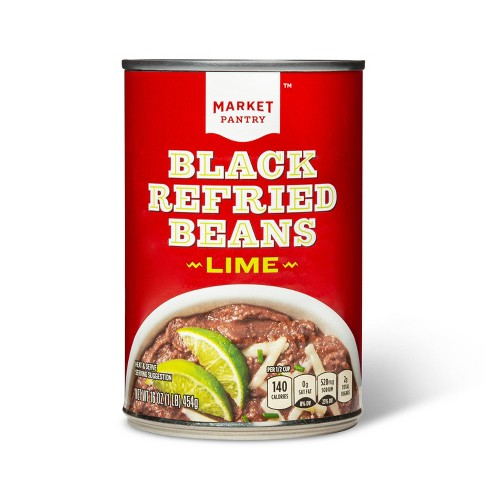Refried Beans Black Beans with Lime 16 oz - Market Pantry™ - image 1 of 3