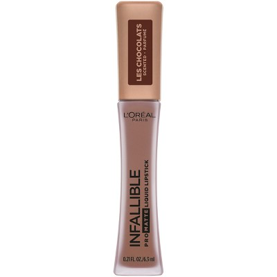 L'Oréal Paris Infallible Pro Matte Les Chocolates Scented Lipstick Bittersweet - 0.21 fl oz