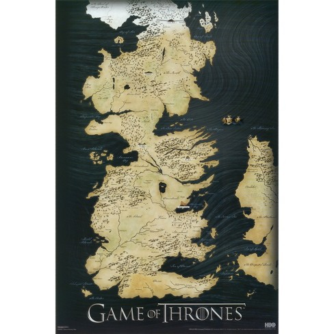 Art.com - Game of Thrones Map - image 1 of 2